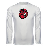 Performance White Longsleeve Shirt-Hammy Head