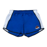 Ladies Royal/White Team Short-Primary Mark