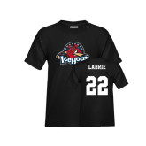 Youth Black T Shirt-Primary Mark, Tee w/ Labrie and #22
