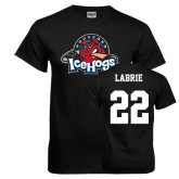 Black T Shirt-Primary Mark, Tee w/ Labrie and #22