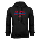 Black Fleece Hoodie-Hockey Bar Design