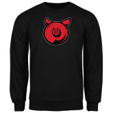 Black Fleece Crew-Pig Butt Logo