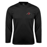 Syntrel Performance Black Longsleeve Shirt-Hammy w/ Hockey Stick