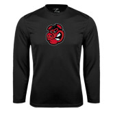 Syntrel Performance Black Longsleeve Shirt-Hammy Head