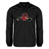 V Neck Black Raglan Windshirt-Hammy w/ Hockey Stick