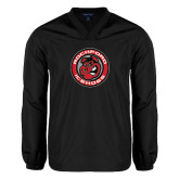 V Neck Black Raglan Windshirt-Badge