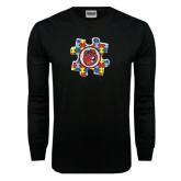 Black Long Sleeve TShirt-Autism Puzzle Piece