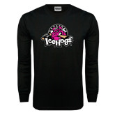 Black Long Sleeve TShirt-Pink in the Rink