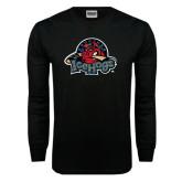 Black Long Sleeve TShirt-Military Logo