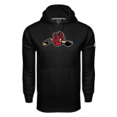 Under Armour Black Performance Sweats Team Hoodie-Hammy w/ Hockey Stick