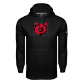 Under Armour Black Performance Sweats Team Hoodie-Pig Butt Logo