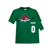 Youth Dark Green T Shirt-Primary Mark, Custom tee w/ Name and #