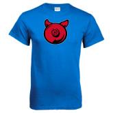 Royal Blue T Shirt-Pig Butt Logo
