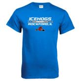 Royal Blue T Shirt-Hockey Bar Design