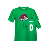 Youth Kelly Green T Shirt-Primary Mark, Custom tee w/ Name and #