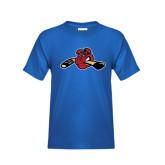 Youth Royal T Shirt-Hammy w/ Hockey Stick