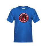 Youth Royal T Shirt-Badge