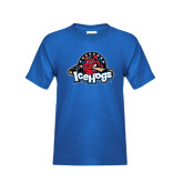 Youth Royal Blue T Shirt-Primary Mark Distressed