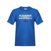 Youth Royal T Shirt-Hockey Bar Design
