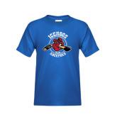 Youth Royal T Shirt-Circle Design