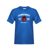 Youth Royal T Shirt-Arched Est Year