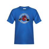Youth Royal T Shirt-Fancy Puck