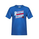 Youth Royal T Shirt-Slanted Design