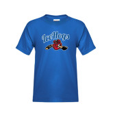 Youth Royal T Shirt-Scripted IceHogs