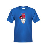 Youth Royal Blue T Shirt-State Stacked