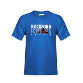 Youth Royal Blue T Shirt-Ice Distressed