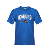 Youth Royal T Shirt-Arched IceHogs