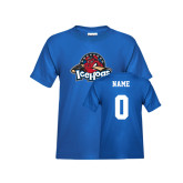Youth Royal T Shirt-Primary Mark, Custom tee w/ Name and #