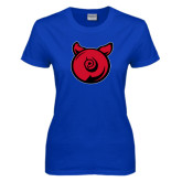 Ladies Royal T Shirt-Pig Butt Logo