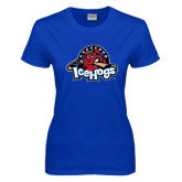 Ladies Royal T Shirt-Primary Mark Distressed