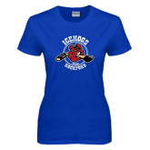 Ladies Royal T Shirt-Circle Design