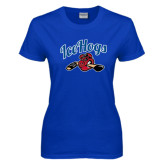 Ladies Royal T Shirt-Scripted IceHogs