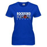 Ladies Royal T Shirt-Ice Distressed