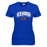 Ladies Royal T Shirt-Arched IceHogs