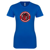 Next Level Ladies SoftStyle Junior Fitted Royal Tee-Badge