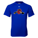 Under Armour Royal Tech Tee-Hammy w/ Hockey Stick