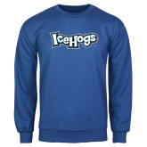 Royal Fleece Crew-IceHogs Wordmark