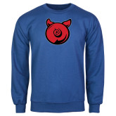 Royal Fleece Crew-Pig Butt Logo