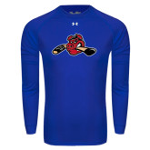 Under Armour Royal Long Sleeve Tech Tee-Hammy w/ Hockey Stick