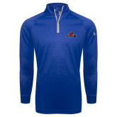 Under Armour Royal Tech 1/4 Zip Performance Shirt-Hammy w/ Hockey Stick