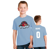 Youth Light Blue T Shirt-Primary Mark, Custom tee w/ Name and #