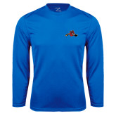 Syntrel Performance Royal Longsleeve Shirt-Hammy w/ Hockey Stick