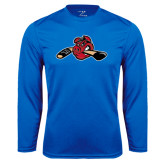 Performance Royal Longsleeve Shirt-Hammy w/ Hockey Stick