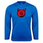 Performance Royal Longsleeve Shirt-Pig Butt Logo