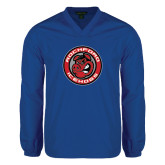 V Neck Royal Raglan Windshirt-Badge