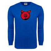 Royal Long Sleeve T Shirt-Pig Butt Logo